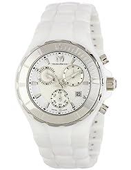 TechnoMarine Women's 110030C Cruise Ceramic Chronograph Silver-Tone Bezel White Watch by TechnoMarine