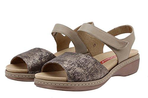 Amovible Femme Visón Confort Semelle Chaussure 8807 Cuir Piesanto En Confortables Amples Sandale f1gSqwBF
