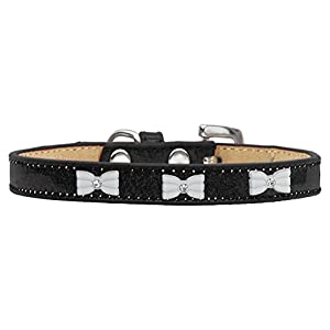 Mirage Pet Products 633-6 BK20 White Bow Widget Black Ice Cream Dog Collar, 3X-Large Click on image for further info.
