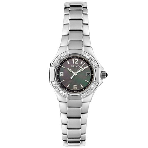 Seiko Women's SXD575 Diamond Coutura (Coutura Black Mother Of Pearl)