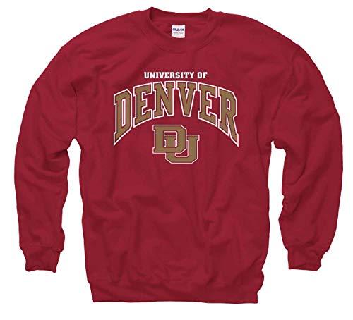 Denver Pioneers Arch & Logo Gameday Crewneck Sweatshirt - Maroon
