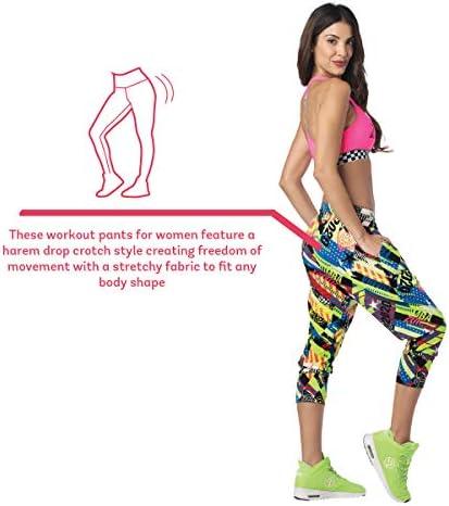 Zumba Capri Pantalon Harem de Entrenamiento Fitness Mallas de Deporte de Mujer 6