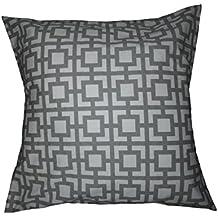"""Grey Geometric trellis Pillow cover. Euro size Moroccan Lattice Trellis, tile, Pillow Cover Sham case. large square. bed, Dorm, Home Decor. 26""""x 26"""" SALE."""