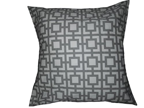 Grey Geometric trellis Pillow cover. Euro size Moroccan Lattice Trellis, tile, Pillow Cover Sham case. large square. bed, Dorm, Home Decor. 26