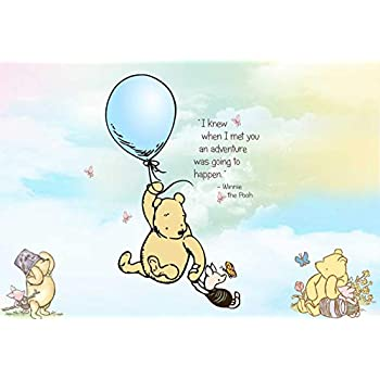 Amazon Com Classic Winnie The Pooh Backdrop Baby Shower
