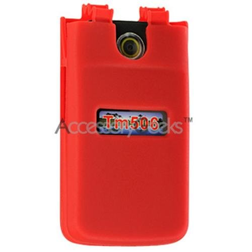 TM506 Case, [Red] Soft & Flexible Reinforced Silicone Skin Cover for Sony Ericsson TM506 (Tm506 Cover Case)