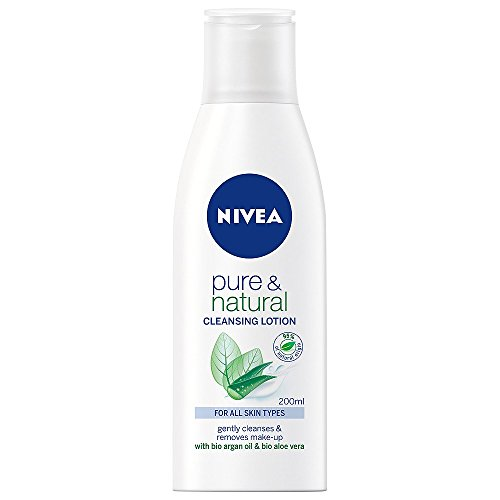 (Nivea Pure & Natural Cleansing Milk for All Skin Types 200 ml / 6.8 fl oz)