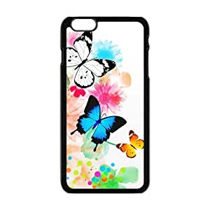 Cheap phone case, Animal Series, beautiful Butterfly and blossom pattern for black plastic iphone 6 case (5.5 inch) wangjiang maoyi