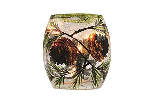 Stony Creek Lighted Glass Jar - Pinecones