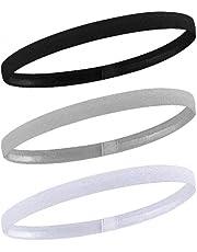 AvoDovA 3PCS Elastic Sport Headbands, Non-Slip Silicone Grip Exercise Hair Band Football Hair Headbands, Stretchy Head Wrap Sweatbands Mini Head Band for Women and Men