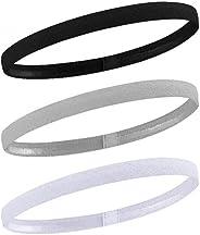 AvoDovA 3PCS Elastic Sport Headbands, Non-Slip Silicone Grip Exercise Hair Band Football Hair Headbands, Stret