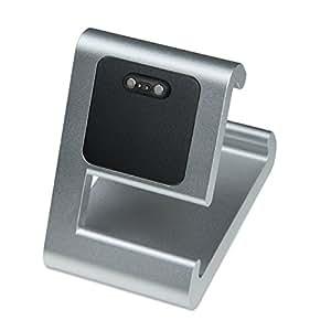 TimeDock - Charging Dock for Pebble 2, Pebble Time, Pebble Time Steel, Pebble Time Round (Silver)