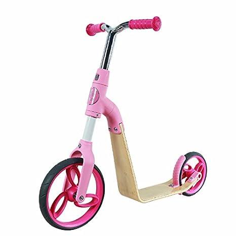 AEST Correpasillos Y Patinete 2 En 1 Bicicleta Sin Pedales Reversible Scooter 2 Ruedas Niño Niña 3-5 Años - Color Rosa: Amazon.es: Juguetes y juegos