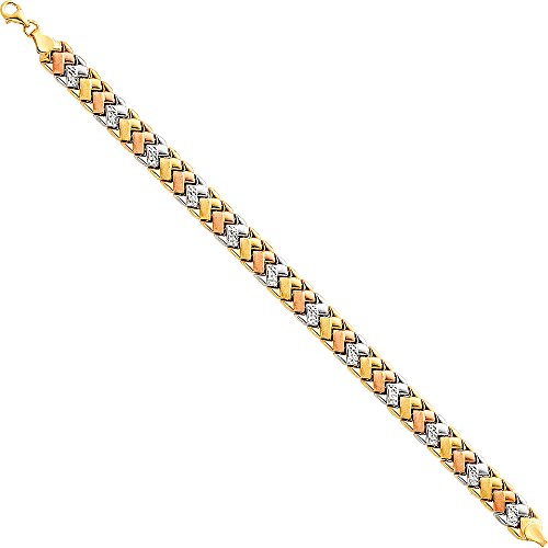 iamond Cut Stampato Bracelet with Lobster Claw Clasp - 7.25