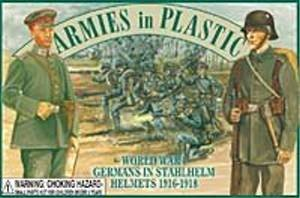 Armies in Plastic WWI German Infantry with Stahlheim Helmets Offered By Classic Toy Soldiers, -