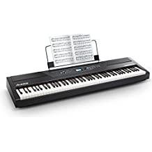 Alesis Recital Pro | Digital Piano/Keyboard with 88 Hammer Action Keys, 12 Premium Voices, 20W Built-in Speakers, Headphone Output and Educational Features
