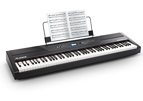 Alesis Recital Pro | Digital Piano / Keyboard with 88 Hammer Action Keys, 12 Premium Voices, 20W Built-in Speakers, Headphone Output and Educational Features