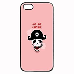 CAPTAIN KAWAII PANDA Photo Hard Case , iPhone 5 5S Case , Fashion Image Case Diy, Personalized Custom Durable Case For iPhone 5 & iPhone 5S