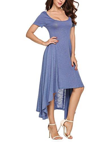 Damen kleid lang blau