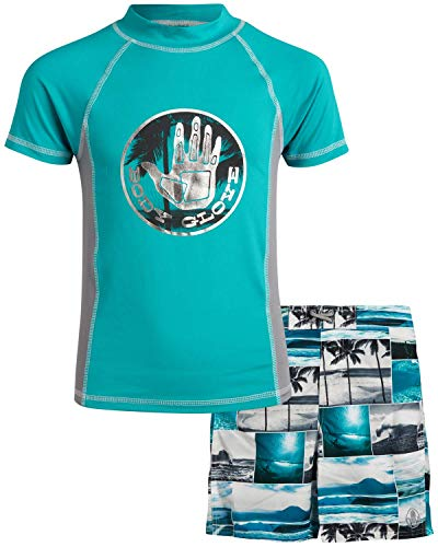 Body Glove Boys' 2-Piece UPF 50+ Rash Guard and