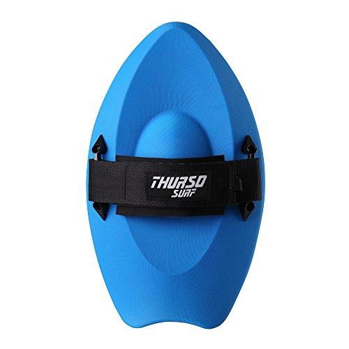 THURSO SURF Slash Handboard Body Surfing Hand Plane with Wrist Leash PE Construction Durable Lightweight Buoyant and Comfortable (Blue)