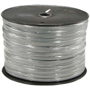 Silver Satin Flat Cable (InstallerParts 1000 Ft 8 Conductor Silver Satin Modular Cable Reel 28AWG)