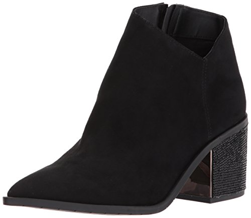 Kenneth Cole REACTION Women's Cue The Music Notch Western Style Micro Ankle Bootie, Black, 6 M - Jenner Style And Kylie Kendall
