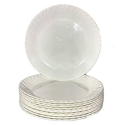 Decornt Microwave Safe Unbreakable Food Grade Round Virgin Plastic 7 Inches Quarter Plate White - Set  sc 1 st  Amazon.in & Buy Decornt Microwave Safe Unbreakable Food Grade Round Virgin ...