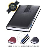 Premium 2020 Daily Planner for 365 Days - Yearly Journal Organizer for Weekly and Monthly Productivity - Updated a5 Agenda Made in Italy – Includes Detachable Phonebook + Tabbed Pages for Every Day