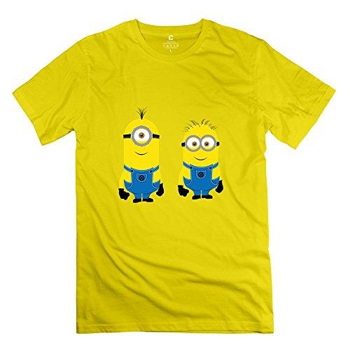 Men's Cool 2015 Minion Cartoon Tshirt S Yellow