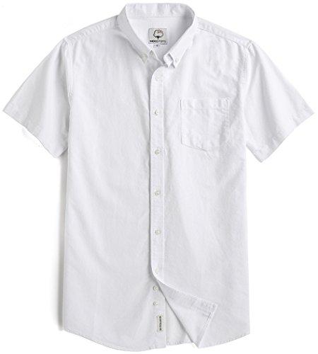 Men's Short Sleeve Oxford Button Down Casual Shirt – DiZiSports Store
