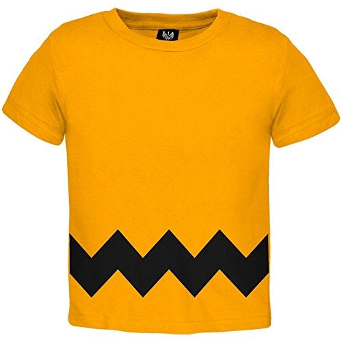 [Halloween Yellow Zig Zag Costume Toddler T-shirt - 2T] (Inappropriate Halloween Costumes For Babies)