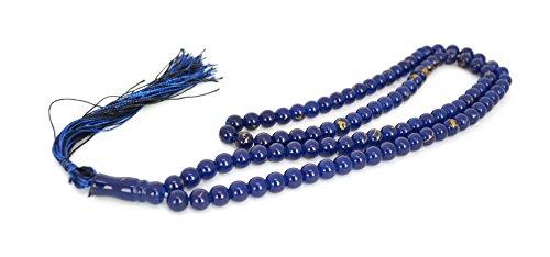 Glass Tasbih Misbaha in Multiple Colors - Islamic Muslim Rosary Prayer Beads (Navy Blue) ()
