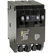 Square D by Schneider Electric HOMT2020240CP Homeline 2-20-Amp Single-Pole 1-40-Amp Two-Pole Quad Circuit Breaker
