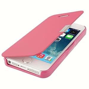 Brush Texture PU Case Funda Flip Cover con Magnet Button para iPhone 4S 4 & () Magenta