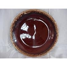 Vintage Brown Dinner Plate By Hull