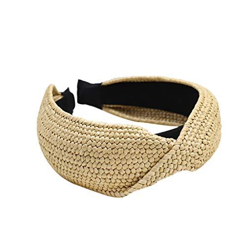 Startview Women Hair Bands Natural Lafite Straw Handmade Headband Twist Knot 2019 (Style 2, Free) -