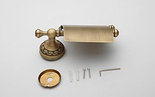 AUSWIND Antique Bronze Brushed Brass Toilet Paper Holder Carved Tissue Holder Bathroom Accessories HW