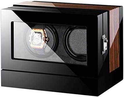 ワインディングマシーン 2個の時計ワインダー自動ウォッチワインダータッチスクリーンワインダーボックスウォッチ表示ワインダー自動ローテーション木製安全な木製収納ボックスウォッチ KANULAN