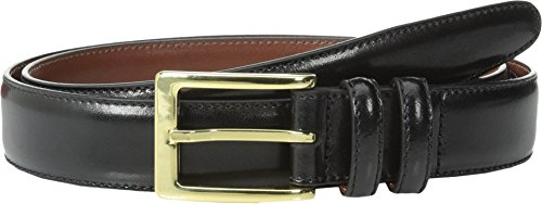 Torino Leather Co. Men's 30MM Antigua Leather Black Belt 32