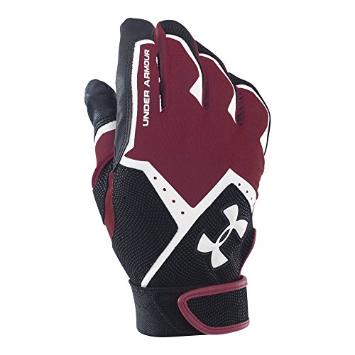 Under Armour Men's Clean-Up VI Batting Gloves, Maroon (609)/White, X-Large Maroon Batting Gloves
