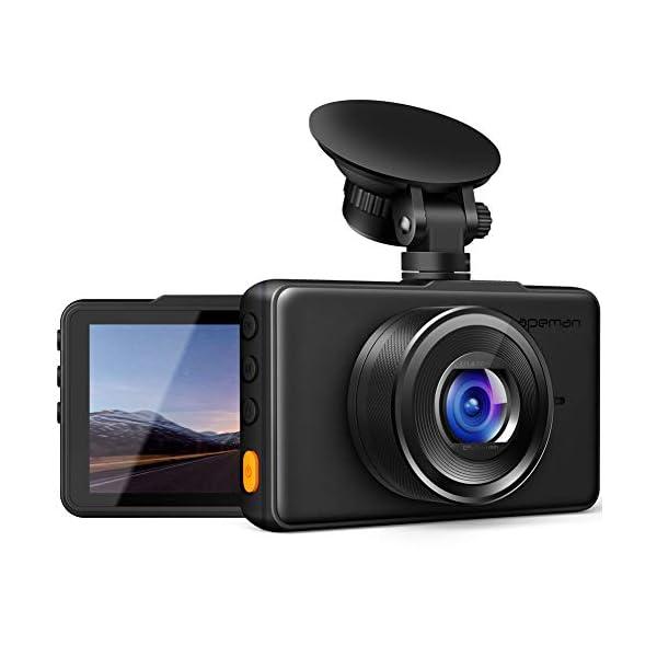 APEMAN Dash Cam 1080P FHD DVR Car Driving Recorder 3 Inch LCD Screen 170° Wide Angle,...