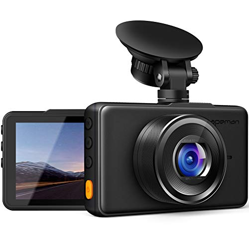 APEMAN Dash Cam 1080P FHD DVR Car Driving Recorder 3inch LCD Screen 170°Wide Angle, G-Sensor, WDR, Parking Monitor, Loop Recording, Motion Detection ()