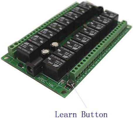 Calvas - Relé de control remoto inalámbrico de 24 V, 16 canales ...
