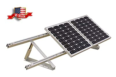 Adjustable Solar Panel Mount Mounting Brackets Folding Tilt Legs, Boat, RV, Roof Off Grid (24-inch Length)