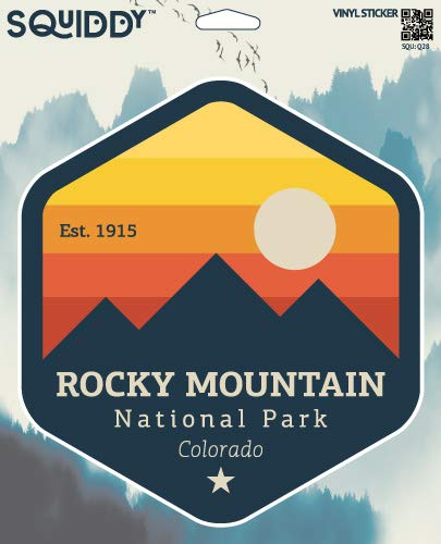 Squiddy Rocky Mountain National Park Colorado - Vinyl Sticker Decal for Phone, Laptop, Water Bottle (3