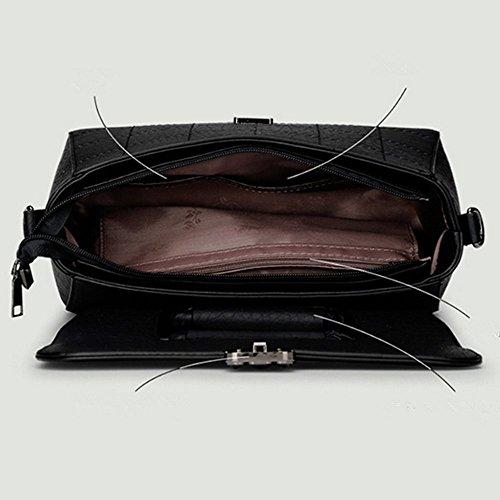 Eysee - Bolso de tela de poliuretano para mujer negro