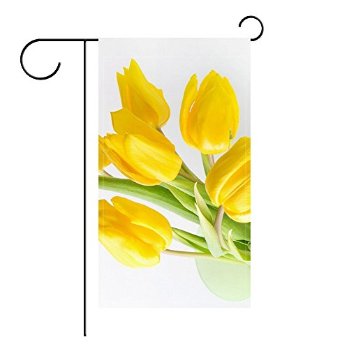 Ant88 Garden Flag Tulips Flowers Yellow Bank Light 12x18 inches(Without (Tulips Garden Flag)