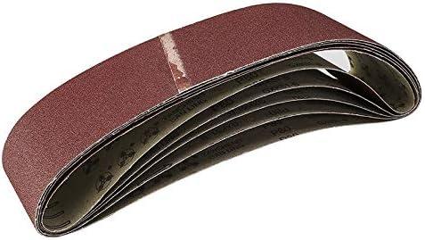 80,120,180,240,320,400 Herramientas Abrasivas de Lijado de Banda Abrasiva Jaimenalin 6 Piezas de Cintas de Lijado para Molienda Pulido Mezclar 915X100 Mm