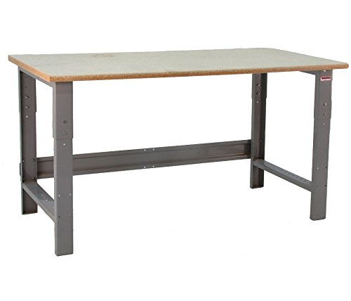 (BenchPro Roosevelt Workbench - Heavy Duty Steel With Particle Board Top - 1,200 lb Capacity, 24